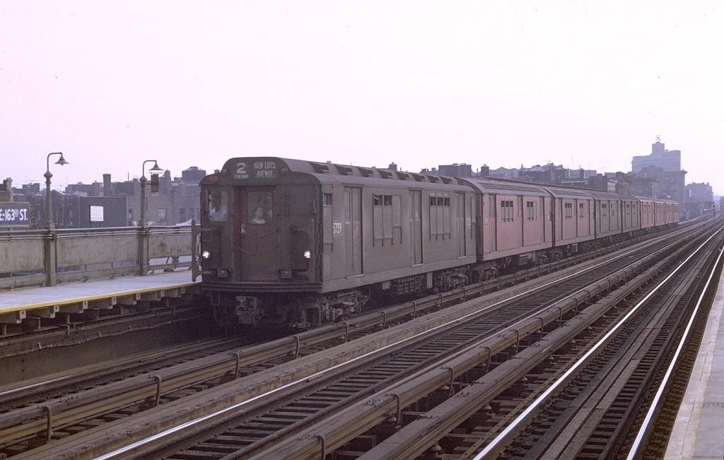 (165k, 1024x651)<br><b>Country:</b> United States<br><b>City:</b> New York<br><b>System:</b> New York City Transit<br><b>Line:</b> IRT White Plains Road Line<br><b>Location:</b> Intervale Avenue <br><b>Route:</b> 2<br><b>Car:</b> R-12 (American Car & Foundry, 1948) 5739 <br><b>Photo by:</b> Joe Testagrose<br><b>Date:</b> 8/19/1969<br><b>Viewed (this week/total):</b> 0 / 3507