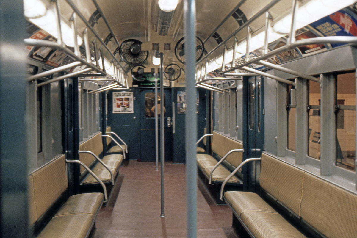 (511k, 1024x683)<br><b>Country:</b> United States<br><b>City:</b> New York<br><b>System:</b> New York City Transit<br><b>Location:</b> New York Transit Museum<br><b>Car:</b> R-12 (American Car & Foundry, 1948) 5760 <br><b>Photo by:</b> Steve Hoskins<br><b>Collection of:</b> David Pirmann<br><b>Date:</b> 8/1979<br><b>Viewed (this week/total):</b> 11 / 17244