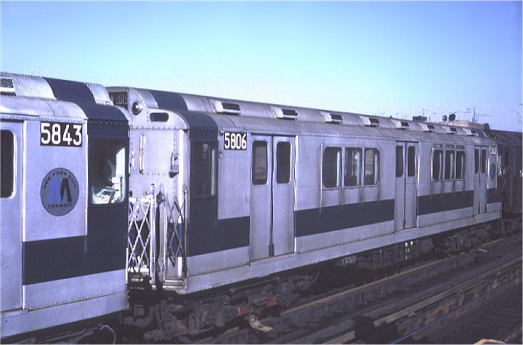 (135k, 1024x676)<br><b>Country:</b> United States<br><b>City:</b> New York<br><b>System:</b> New York City Transit<br><b>Line:</b> IRT White Plains Road Line<br><b>Location:</b> 225th Street <br><b>Car:</b> R-14 (American Car & Foundry, 1949) 5806 <br><b>Photo by:</b> Steve Zabel<br><b>Collection of:</b> Joe Testagrose<br><b>Date:</b> 2/6/1971<br><b>Viewed (this week/total):</b> 1 / 3412