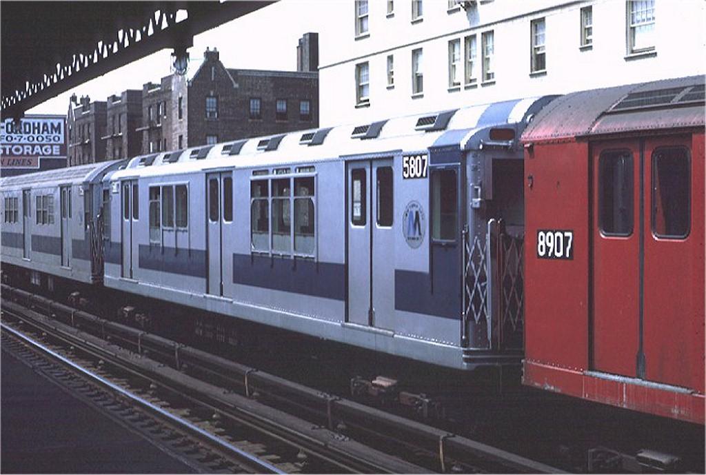 (168k, 1024x689)<br><b>Country:</b> United States<br><b>City:</b> New York<br><b>System:</b> New York City Transit<br><b>Line:</b> IRT Woodlawn Line<br><b>Location:</b> 183rd Street <br><b>Route:</b> 4<br><b>Car:</b> R-14 (American Car & Foundry, 1949) 5807 <br><b>Photo by:</b> Joe Testagrose<br><b>Date:</b> 8/7/1971<br><b>Viewed (this week/total):</b> 2 / 3167