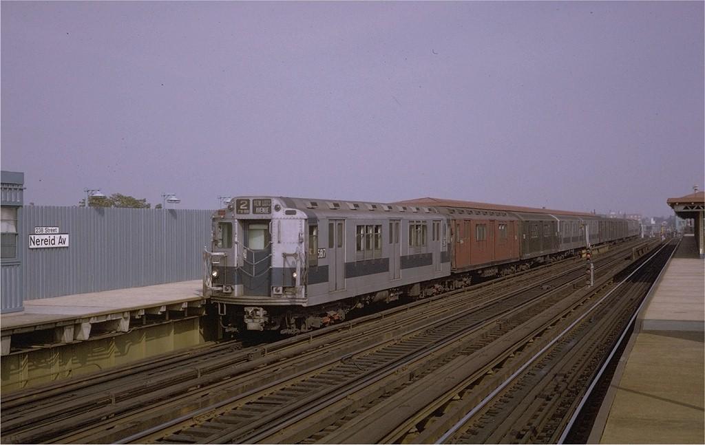 (154k, 1024x647)<br><b>Country:</b> United States<br><b>City:</b> New York<br><b>System:</b> New York City Transit<br><b>Line:</b> IRT White Plains Road Line<br><b>Location:</b> 238th Street (Nereid Avenue) <br><b>Route:</b> 2<br><b>Car:</b> R-14 (American Car & Foundry, 1949) 5817 <br><b>Photo by:</b> Doug Grotjahn<br><b>Collection of:</b> Joe Testagrose<br><b>Date:</b> 10/12/1970<br><b>Viewed (this week/total):</b> 1 / 3486