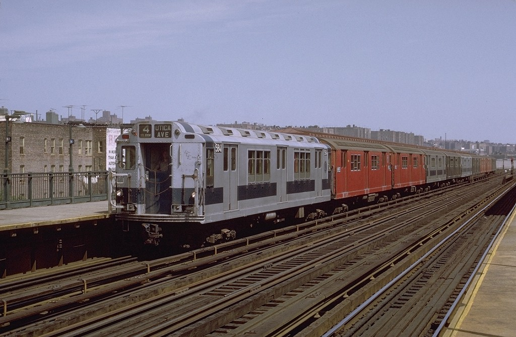 (193k, 1024x669)<br><b>Country:</b> United States<br><b>City:</b> New York<br><b>System:</b> New York City Transit<br><b>Line:</b> IRT Woodlawn Line<br><b>Location:</b> 167th Street <br><b>Route:</b> 4<br><b>Car:</b> R-14 (American Car & Foundry, 1949) 5841 <br><b>Photo by:</b> Joe Testagrose<br><b>Date:</b> 8/7/1971<br><b>Viewed (this week/total):</b> 0 / 3080