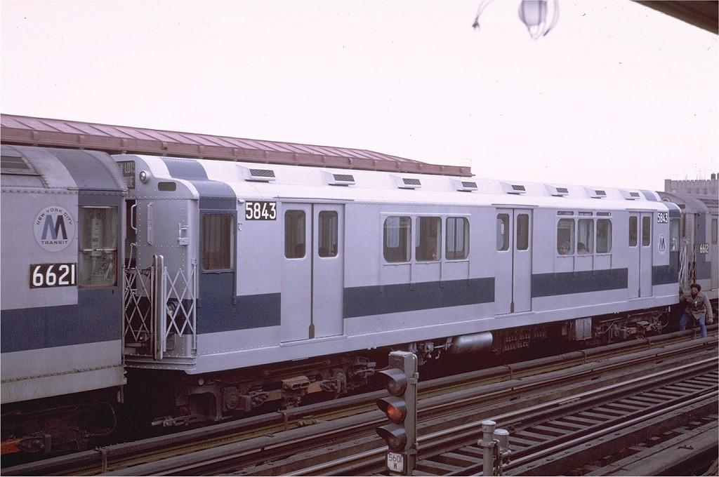 (160k, 1024x680)<br><b>Country:</b> United States<br><b>City:</b> New York<br><b>System:</b> New York City Transit<br><b>Line:</b> IRT White Plains Road Line<br><b>Location:</b> 225th Street <br><b>Route:</b> 2<br><b>Car:</b> R-14 (American Car & Foundry, 1949) 5843 <br><b>Photo by:</b> Joe Testagrose<br><b>Date:</b> 1/24/1971<br><b>Viewed (this week/total):</b> 1 / 3341
