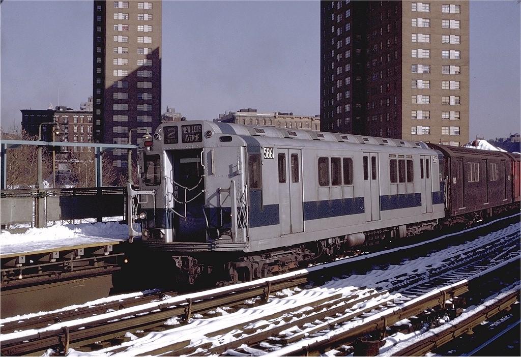 (281k, 1024x702)<br><b>Country:</b> United States<br><b>City:</b> New York<br><b>System:</b> New York City Transit<br><b>Line:</b> IRT White Plains Road Line<br><b>Location:</b> Jackson Avenue <br><b>Route:</b> 2<br><b>Car:</b> R-14 (American Car & Foundry, 1949) 5861 <br><b>Photo by:</b> Joe Testagrose<br><b>Date:</b> 1/2/1971<br><b>Viewed (this week/total):</b> 0 / 3629