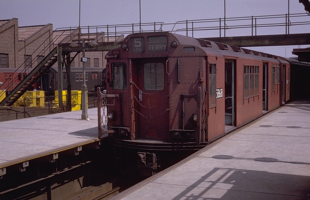 (186k, 1024x660)<br><b>Country:</b> United States<br><b>City:</b> New York<br><b>System:</b> New York City Transit<br><b>Line:</b> IRT White Plains Road Line<br><b>Location:</b> East 180th Street <br><b>Route:</b> 5<br><b>Car:</b> R-14 (American Car & Foundry, 1949) 5868 <br><b>Photo by:</b> Joe Testagrose<br><b>Date:</b> 4/26/1970<br><b>Viewed (this week/total):</b> 1 / 2907