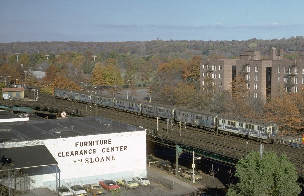 (223k, 1024x659)<br><b>Country:</b> United States<br><b>City:</b> New York<br><b>System:</b> New York City Transit<br><b>Line:</b> IRT West Side Line<br><b>Location:</b> 238th Street <br><b>Route:</b> 1<br><b>Car:</b> R-14 (American Car & Foundry, 1949) 5878 <br><b>Photo by:</b> Steve Zabel<br><b>Collection of:</b> Joe Testagrose<br><b>Date:</b> 11/4/1979<br><b>Viewed (this week/total):</b> 3 / 6237