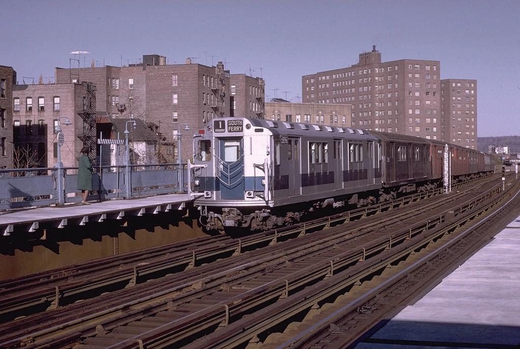 (252k, 1024x689)<br><b>Country:</b> United States<br><b>City:</b> New York<br><b>System:</b> New York City Transit<br><b>Line:</b> IRT West Side Line<br><b>Location:</b> 225th Street <br><b>Route:</b> 1<br><b>Car:</b> R-14 (American Car & Foundry, 1949) 5896 <br><b>Photo by:</b> Joe Testagrose<br><b>Date:</b> 11/21/1970<br><b>Viewed (this week/total):</b> 0 / 3234