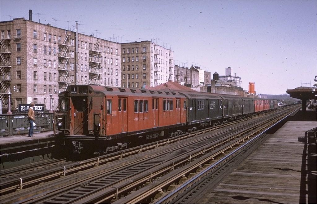(224k, 1024x658)<br><b>Country:</b> United States<br><b>City:</b> New York<br><b>System:</b> New York City Transit<br><b>Line:</b> IRT West Side Line<br><b>Location:</b> 231st Street <br><b>Route:</b> 1<br><b>Car:</b> R-14 (American Car & Foundry, 1949) 5901 <br><b>Photo by:</b> Steve Zabel<br><b>Collection of:</b> Joe Testagrose<br><b>Date:</b> 4/11/1970<br><b>Viewed (this week/total):</b> 0 / 3912