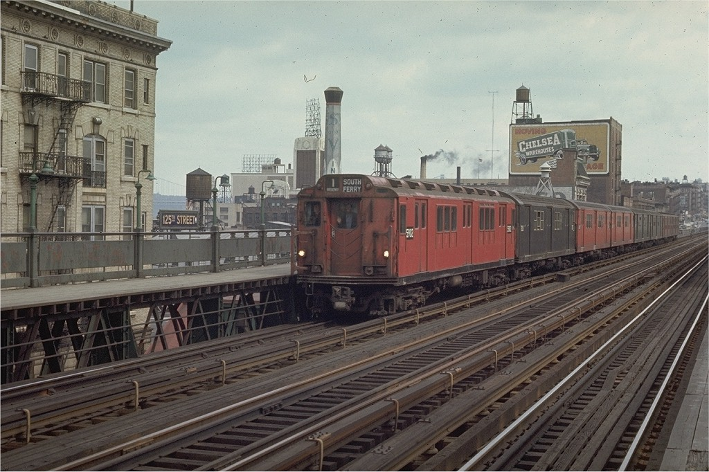 (221k, 1024x682)<br><b>Country:</b> United States<br><b>City:</b> New York<br><b>System:</b> New York City Transit<br><b>Line:</b> IRT West Side Line<br><b>Location:</b> 125th Street <br><b>Route:</b> 1<br><b>Car:</b> R-14 (American Car & Foundry, 1949) 5902 <br><b>Photo by:</b> Joe Testagrose<br><b>Date:</b> 4/4/1970<br><b>Viewed (this week/total):</b> 0 / 2871