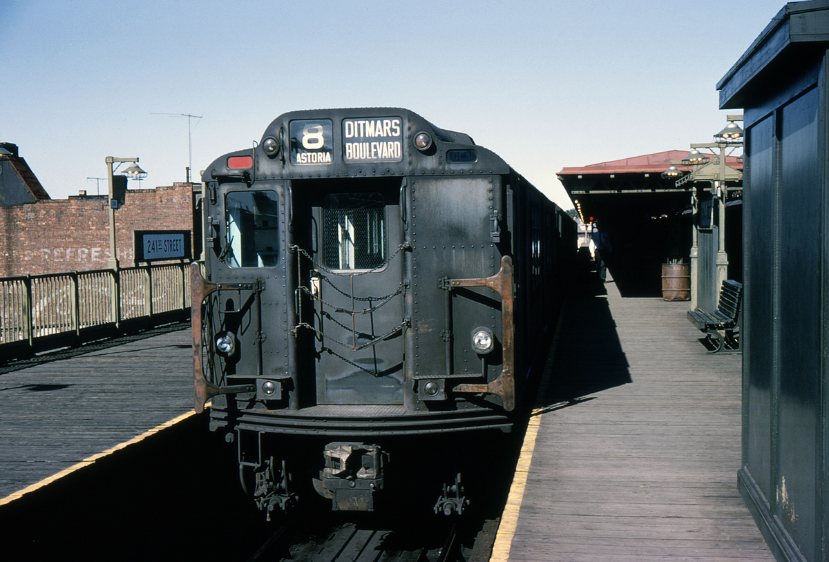 (448k, 1024x683)<br><b>Country:</b> United States<br><b>City:</b> New York<br><b>System:</b> New York City Transit<br><b>Line:</b> IRT White Plains Road Line<br><b>Location:</b> 241st Street <br><b>Route:</b> 2<br><b>Car:</b> R-14 (American Car & Foundry, 1949) 5914 <br><b>Collection of:</b> David Pirmann<br><b>Date:</b> 9/5/1964<br><b>Notes:</b> Wrong sign<br><b>Viewed (this week/total):</b> 0 / 8240