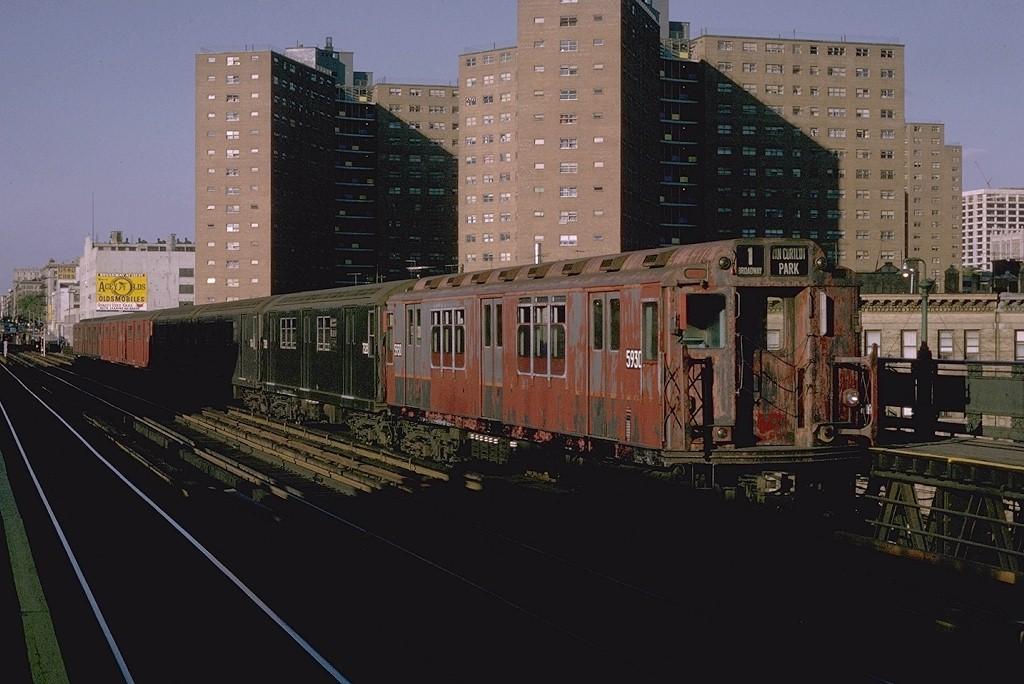 (173k, 1024x684)<br><b>Country:</b> United States<br><b>City:</b> New York<br><b>System:</b> New York City Transit<br><b>Line:</b> IRT West Side Line<br><b>Location:</b> 125th Street <br><b>Route:</b> 1<br><b>Car:</b> R-14 (American Car & Foundry, 1949) 5930 <br><b>Photo by:</b> Joe Testagrose<br><b>Date:</b> 9/6/1970<br><b>Viewed (this week/total):</b> 0 / 3265