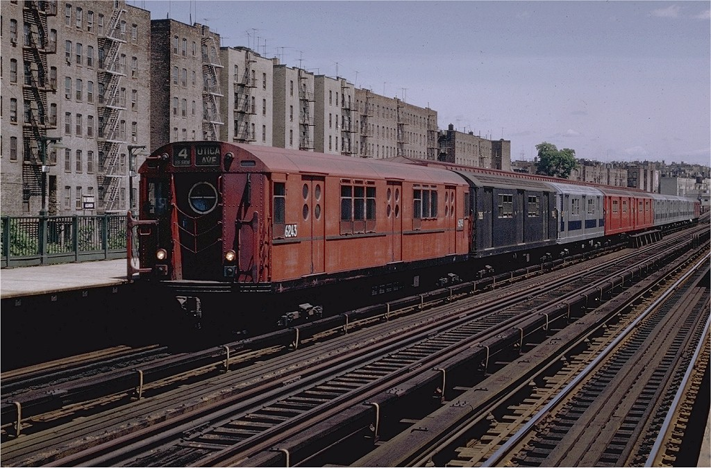 (255k, 1024x674)<br><b>Country:</b> United States<br><b>City:</b> New York<br><b>System:</b> New York City Transit<br><b>Line:</b> IRT Woodlawn Line<br><b>Location:</b> 176th Street <br><b>Route:</b> 4<br><b>Car:</b> R-15 (American Car & Foundry, 1950) 6243 <br><b>Photo by:</b> Joe Testagrose<br><b>Date:</b> 6/13/1970<br><b>Viewed (this week/total):</b> 0 / 3926