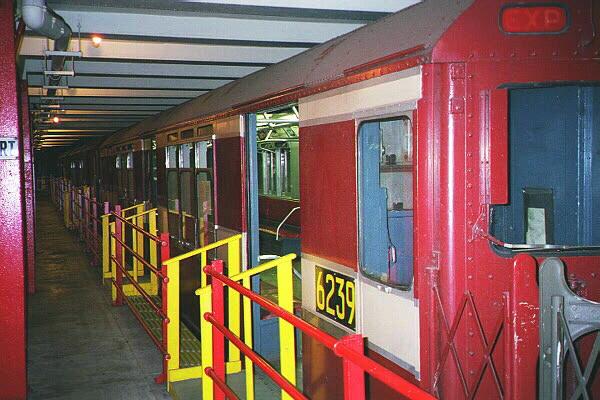 (127k, 600x400)<br><b>Country:</b> United States<br><b>City:</b> New York<br><b>System:</b> New York City Transit<br><b>Location:</b> New York Transit Museum<br><b>Car:</b> R-15 (American Car & Foundry, 1950) 6239 <br><b>Photo by:</b> Sidney Keyles<br><b>Date:</b> 5/23/1999<br><b>Viewed (this week/total):</b> 1 / 4836