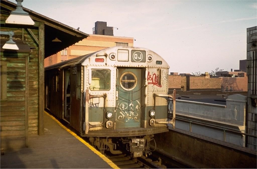 (175k, 1024x674)<br><b>Country:</b> United States<br><b>City:</b> New York<br><b>System:</b> New York City Transit<br><b>Line:</b> BMT Nassau Street/Jamaica Line<br><b>Location:</b> 168th Street (Demolished) <br><b>Route:</b> QJ<br><b>Car:</b> R-16 (American Car & Foundry, 1955) 6303 <br><b>Collection of:</b> Joe Testagrose<br><b>Viewed (this week/total):</b> 0 / 5470
