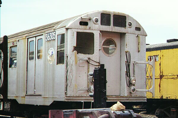 (108k, 600x400)<br><b>Country:</b> United States<br><b>City:</b> New York<br><b>System:</b> New York City Transit<br><b>Location:</b> Coney Island Yard-Museum Yard<br><b>Car:</b> R-16 (American Car & Foundry, 1955) 6305 <br><b>Photo by:</b> Sidney Keyles<br><b>Date:</b> 5/22/1999<br><b>Viewed (this week/total):</b> 0 / 10112