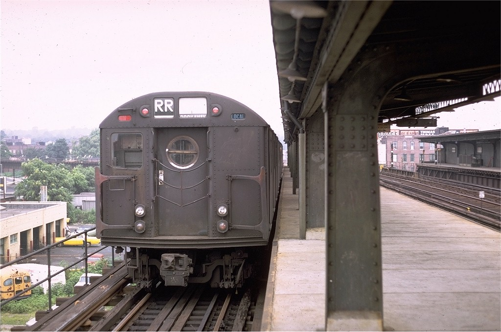 (178k, 1024x678)<br><b>Country:</b> United States<br><b>City:</b> New York<br><b>System:</b> New York City Transit<br><b>Line:</b> BMT Culver Line<br><b>Location:</b> Ditmas Avenue-Shuttle<br><b>Route:</b> Culver Shuttle<br><b>Car:</b> R-16 (American Car & Foundry, 1955) 6313 <br><b>Photo by:</b> Doug Grotjahn<br><b>Collection of:</b> Joe Testagrose<br><b>Date:</b> 7/28/1968<br><b>Viewed (this week/total):</b> 1 / 4089