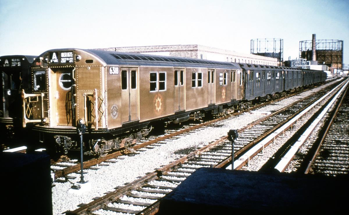 (412k, 1024x683)<br><b>Country:</b> United States<br><b>City:</b> New York<br><b>System:</b> New York City Transit<br><b>Location:</b> Rockaway Park Yard<br><b>Car:</b> R-16 (American Car & Foundry, 1955) 6318 <br><b>Collection of:</b> David Pirmann<br><b>Viewed (this week/total):</b> 1 / 6606