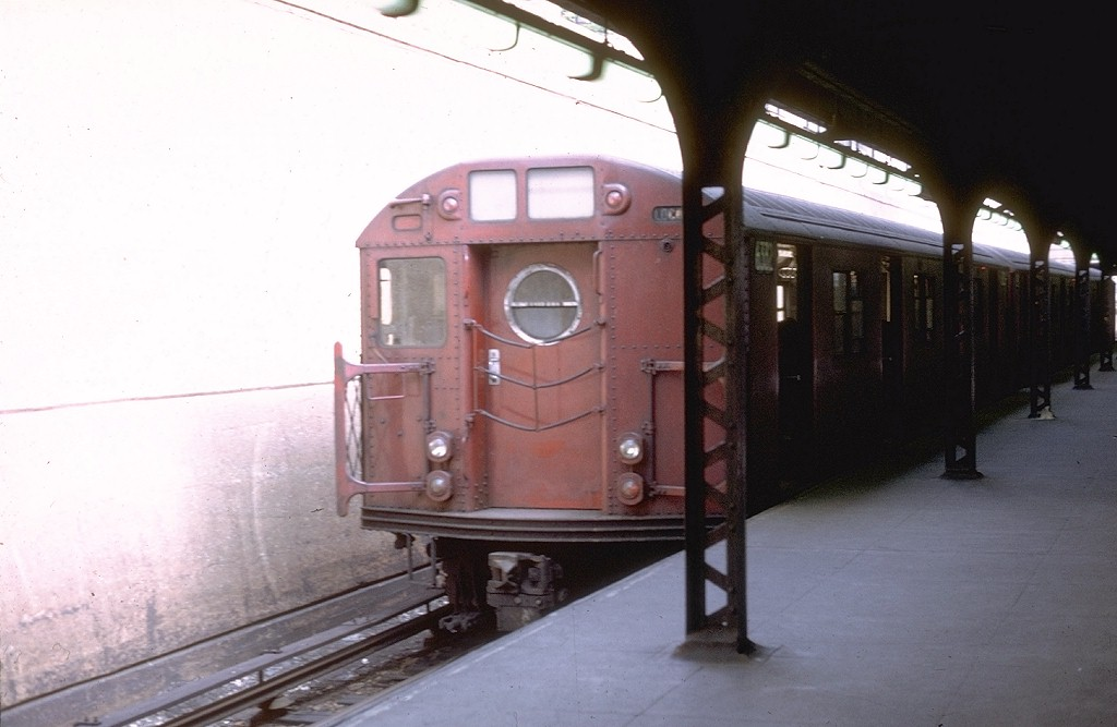 (130k, 1024x667)<br><b>Country:</b> United States<br><b>City:</b> New York<br><b>System:</b> New York City Transit<br><b>Line:</b> BMT Franklin<br><b>Location:</b> Prospect Park <br><b>Route:</b> Franklin Shuttle<br><b>Car:</b> R-16 (American Car & Foundry, 1955) 6332 <br><b>Photo by:</b> Joe Testagrose<br><b>Date:</b> 5/12/1969<br><b>Viewed (this week/total):</b> 0 / 3889
