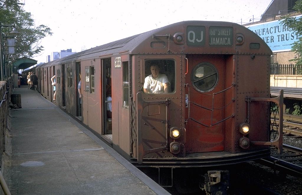 (198k, 1024x664)<br><b>Country:</b> United States<br><b>City:</b> New York<br><b>System:</b> New York City Transit<br><b>Line:</b> BMT Brighton Line<br><b>Location:</b> Avenue J <br><b>Route:</b> QJ<br><b>Car:</b> R-16 (American Car & Foundry, 1955) 6333 <br><b>Photo by:</b> Doug Grotjahn<br><b>Collection of:</b> Joe Testagrose<br><b>Date:</b> 6/20/1969<br><b>Viewed (this week/total):</b> 1 / 4834