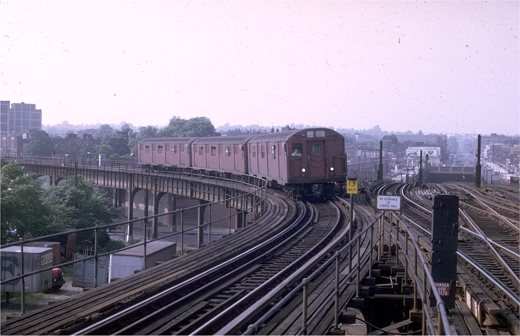 (203k, 1024x663)<br><b>Country:</b> United States<br><b>City:</b> New York<br><b>System:</b> New York City Transit<br><b>Line:</b> BMT Culver Line<br><b>Location:</b> Ditmas Avenue-Shuttle<br><b>Route:</b> Franklin Shuttle<br><b>Car:</b> R-16 (American Car & Foundry, 1955) 6385 <br><b>Photo by:</b> Doug Grotjahn<br><b>Collection of:</b> Joe Testagrose<br><b>Date:</b> 7/27/1969<br><b>Viewed (this week/total):</b> 1 / 4945