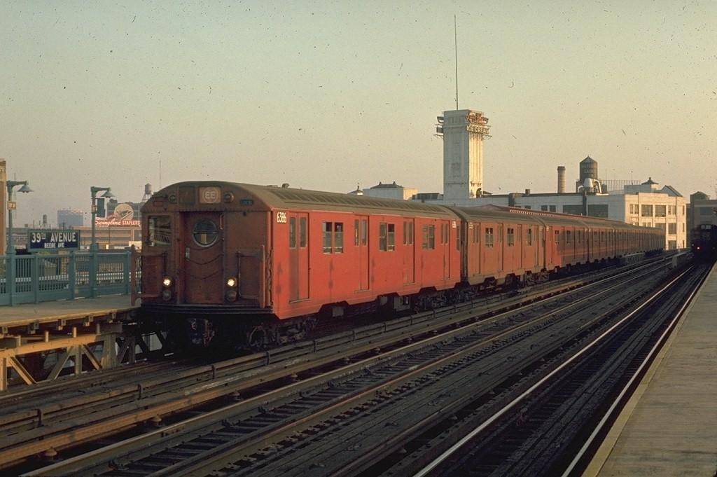 (178k, 1024x681)<br><b>Country:</b> United States<br><b>City:</b> New York<br><b>System:</b> New York City Transit<br><b>Line:</b> BMT Astoria Line<br><b>Location:</b> 39th/Beebe Aves. <br><b>Route:</b> EE<br><b>Car:</b> R-16 (American Car & Foundry, 1955) 6386 <br><b>Photo by:</b> Joe Testagrose<br><b>Date:</b> 5/20/1970<br><b>Viewed (this week/total):</b> 0 / 4104