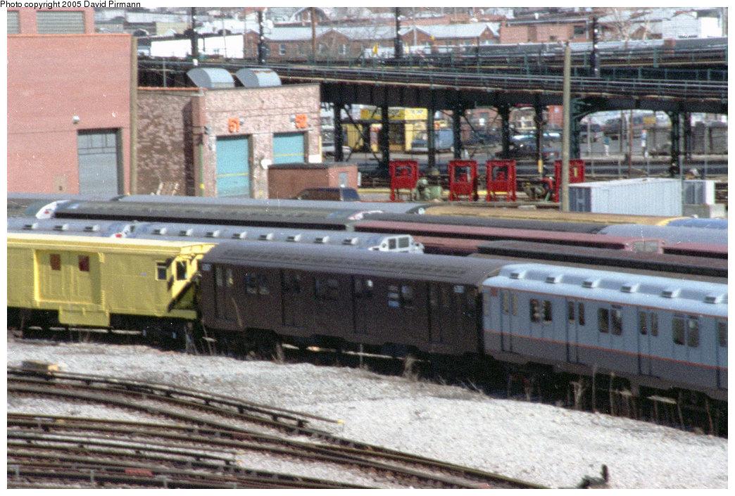 (265k, 1044x705)<br><b>Country:</b> United States<br><b>City:</b> New York<br><b>System:</b> New York City Transit<br><b>Location:</b> Coney Island Yard-Museum Yard<br><b>Car:</b> R-16 (American Car & Foundry, 1955) 6387 <br><b>Photo by:</b> David Pirmann<br><b>Date:</b> 2/24/1996<br><b>Viewed (this week/total):</b> 0 / 3870