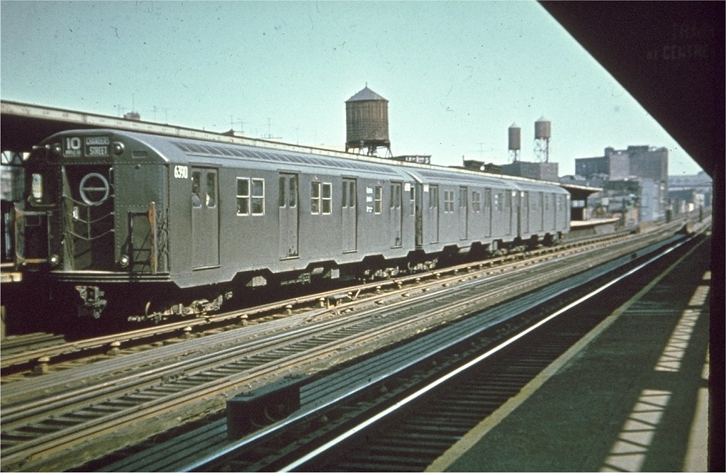 (202k, 1024x667)<br><b>Country:</b> United States<br><b>City:</b> New York<br><b>System:</b> New York City Transit<br><b>Line:</b> BMT Nassau Street/Jamaica Line<br><b>Location:</b> Flushing Avenue <br><b>Route:</b> BMT 10<br><b>Car:</b> R-16 (American Car & Foundry, 1955) 6390 <br><b>Photo by:</b> Joe Testagrose<br><b>Viewed (this week/total):</b> 0 / 4026