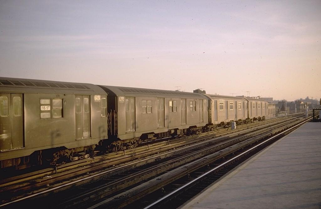 (147k, 1024x667)<br><b>Country:</b> United States<br><b>City:</b> New York<br><b>System:</b> New York City Transit<br><b>Line:</b> BMT West End Line<br><b>Location:</b> 55th Street <br><b>Car:</b> R-16 (American Car & Foundry, 1955) 6395 <br><b>Photo by:</b> Doug Grotjahn<br><b>Collection of:</b> Joe Testagrose<br><b>Date:</b> 1/20/1968<br><b>Viewed (this week/total):</b> 0 / 3873