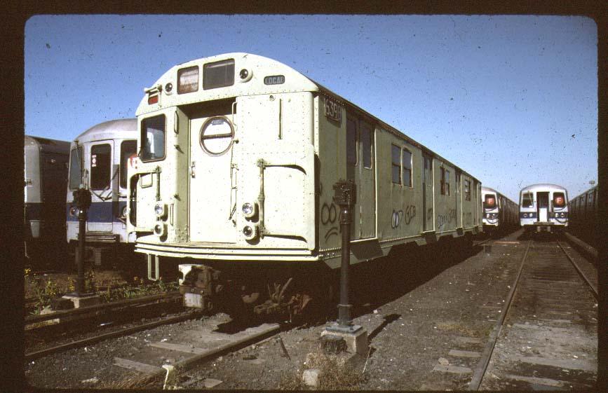 (83k, 867x561)<br><b>Country:</b> United States<br><b>City:</b> New York<br><b>System:</b> New York City Transit<br><b>Location:</b> Coney Island Yard-Museum Yard<br><b>Car:</b> R-16 (American Car & Foundry, 1955) 6398 <br><b>Photo by:</b> Harold<br><b>Date:</b> 2000<br><b>Viewed (this week/total):</b> 1 / 4193