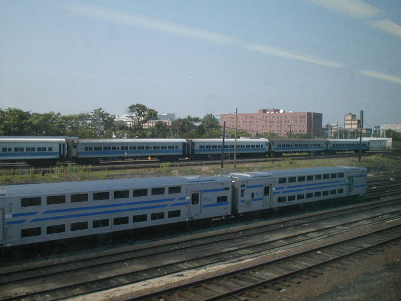 (69k, 800x600)<br><b>Country:</b> United States<br><b>City:</b> New York<br><b>System:</b> Long Island Rail Road<br><b>Line:</b> LIRR Long Island City<br><b>Location:</b> Long Island City <br><b>Car:</b> LIRR Kawasaki C-3/C-R (Bilevel Coach/Cab)  <br><b>Photo by:</b> Todd Glickman<br><b>Date:</b> 7/21/2000<br><b>Viewed (this week/total):</b> 0 / 5059