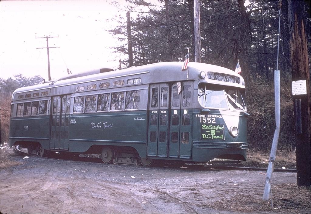 (260k, 1024x706)<br><b>Country:</b> United States<br><b>City:</b> Washington, D.C.<br><b>System:</b> D.C. Transit<br><b>Location:</b> Cabin John Loop<br><b>Route:</b> Rt.20<br><b>Car:</b> PCC 1552 <br><b>Collection of:</b> Joe Testagrose<br><b>Date:</b> 2/22/1957<br><b>Viewed (this week/total):</b> 1 / 2192