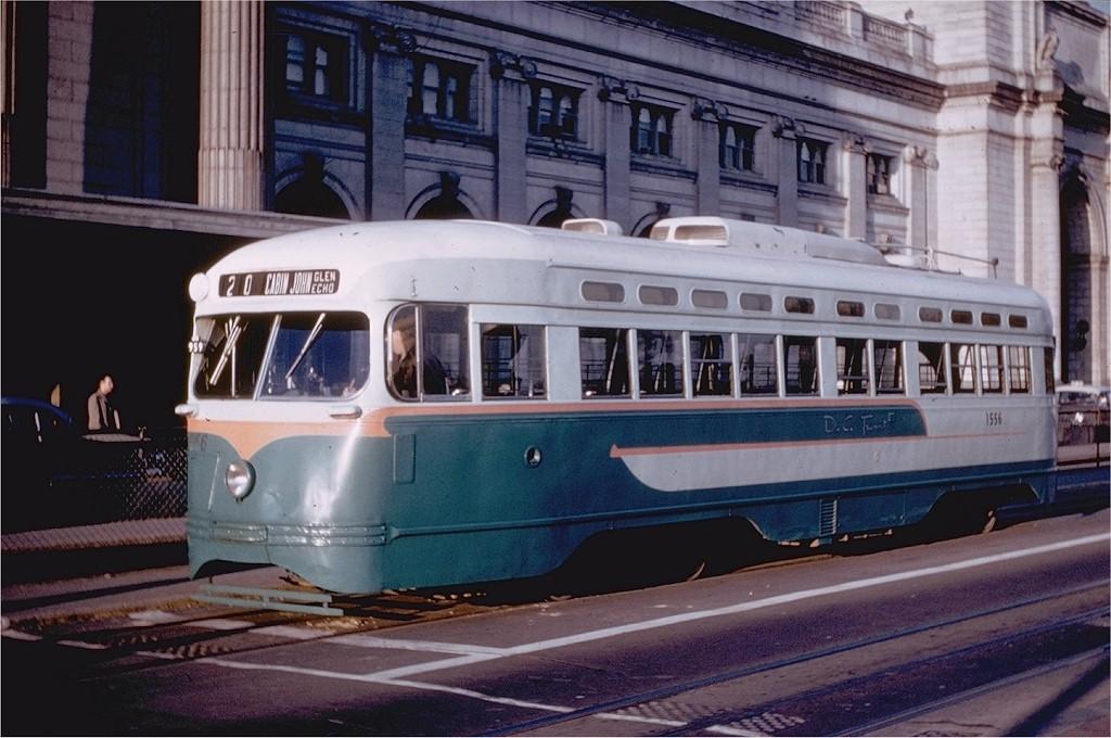 (189k, 1024x680)<br><b>Country:</b> United States<br><b>City:</b> Washington, D.C.<br><b>System:</b> D.C. Transit<br><b>Location:</b> Union Station<br><b>Route:</b> Rt.20<br><b>Car:</b> PCC 1556 <br><b>Photo by:</b> Richard Short<br><b>Collection of:</b> Joe Testagrose<br><b>Date:</b> 4/1959<br><b>Viewed (this week/total):</b> 0 / 2210