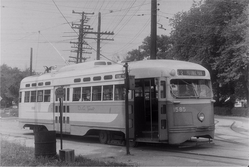 (226k, 1024x685)<br><b>Country:</b> United States<br><b>City:</b> Washington, D.C.<br><b>System:</b> D.C. Transit<br><b>Location:</b> Branchville Loop<br><b>Route:</b> Rt.82<br><b>Car:</b> PCC 1585 <br><b>Collection of:</b> Joe Testagrose<br><b>Viewed (this week/total):</b> 0 / 1970