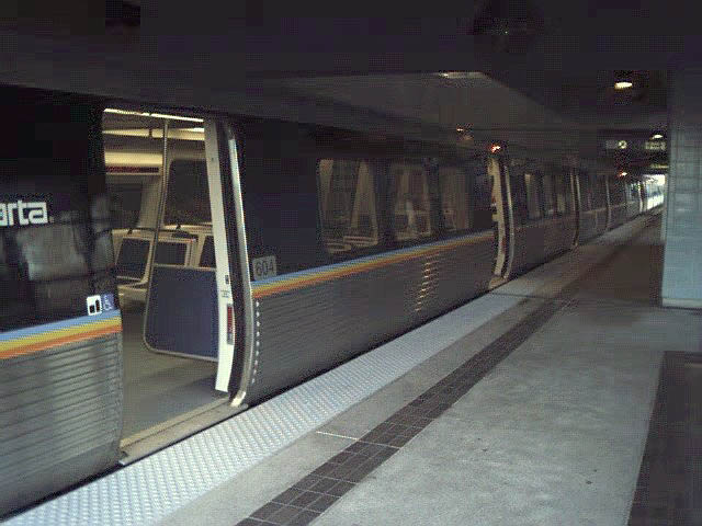 (59k, 640x480)<br><b>Country:</b> United States<br><b>City:</b> Atlanta, GA<br><b>System:</b> MARTA<br><b>Line:</b> East-West Line <br><b>Location:</b> Indian Creek <br><b>Car:</b> MARTA CQ312 604 <br><b>Photo by:</b> Robert Ferreira<br><b>Date:</b> 12/18/2000<br><b>Notes:</b> Exterior of car<br><b>Viewed (this week/total):</b> 2 / 2983