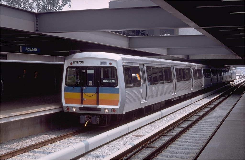 (177k, 1024x670)<br><b>Country:</b> United States<br><b>City:</b> Atlanta, GA<br><b>System:</b> MARTA<br><b>Line:</b> East-West Line <br><b>Location:</b> Avondale <br><b>Car:</b> MARTA CQ310 109 <br><b>Photo by:</b> Doug Grotjahn<br><b>Collection of:</b> Joe Testagrose<br><b>Date:</b> 8/9/1979<br><b>Viewed (this week/total):</b> 1 / 2440