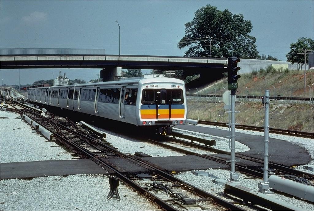 (260k, 1024x690)<br><b>Country:</b> United States<br><b>City:</b> Atlanta, GA<br><b>System:</b> MARTA<br><b>Line:</b> East-West Line <br><b>Location:</b> Avondale <br><b>Car:</b> MARTA CQ310 145 <br><b>Photo by:</b> Doug Grotjahn<br><b>Collection of:</b> Joe Testagrose<br><b>Date:</b> 7/5/1980<br><b>Viewed (this week/total):</b> 1 / 3073