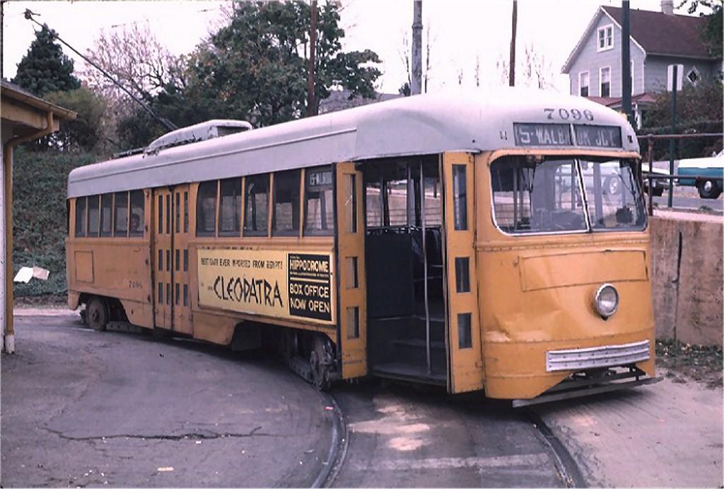 (185k, 1024x691)<br><b>Country:</b> United States<br><b>City:</b> Baltimore, MD<br><b>System:</b> BTC<br><b>Location:</b> Overlea Loop<br><b>Route:</b> Rt 15<br><b>Car:</b> PCC 7096 <br><b>Photo by:</b> Richard Short<br><b>Collection of:</b> Joe Testagrose<br><b>Date:</b> 11/1963<br><b>Viewed (this week/total):</b> 2 / 2921