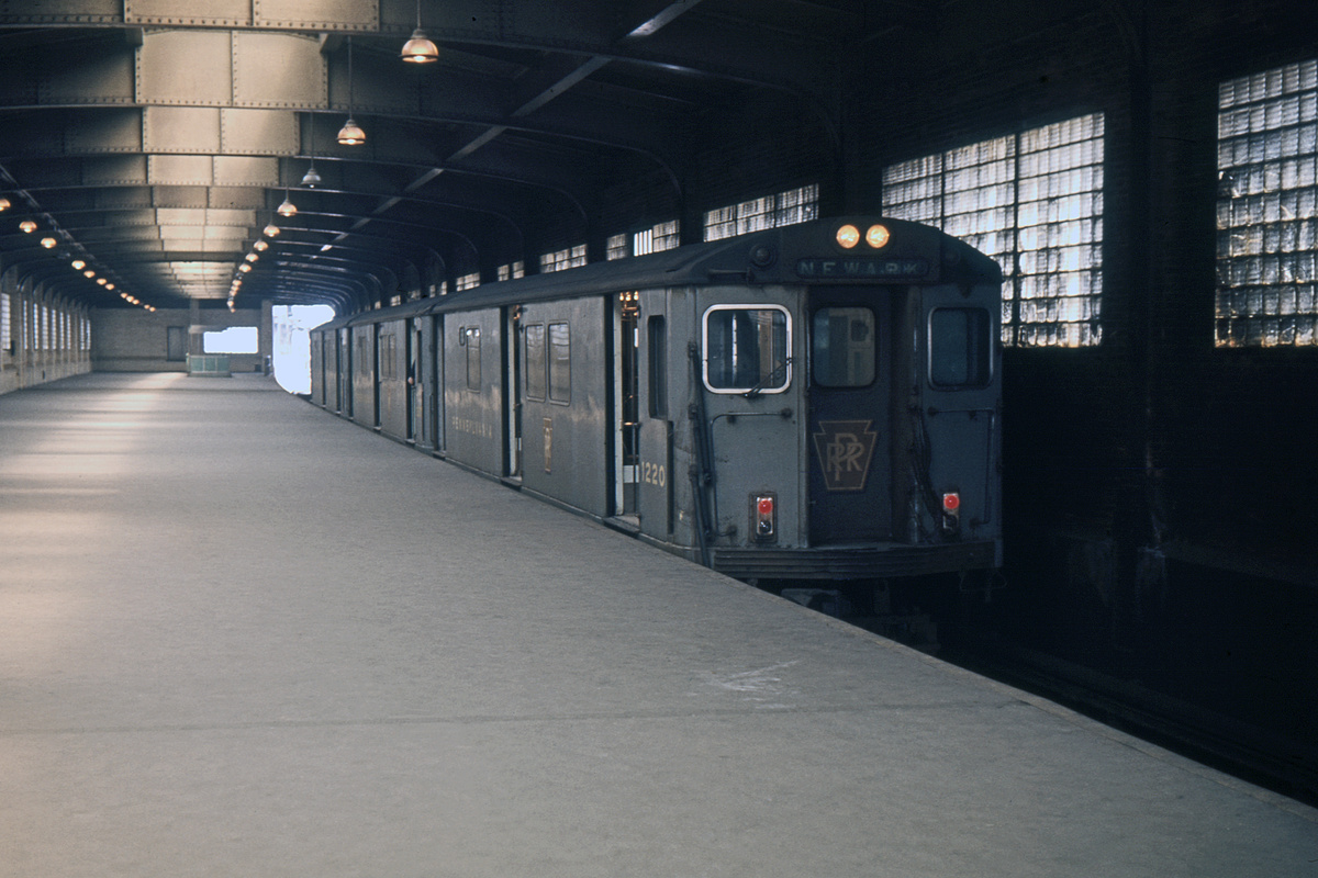 (306k, 1024x682)<br><b>Country:</b> United States<br><b>City:</b> Newark, NJ<br><b>System:</b> PATH<br><b>Location:</b> Newark (Penn Station) <br><b>Car:</b> H&M/PATH K-class 1220 <br><b>Collection of:</b> David Pirmann<br><b>Date:</b> 3/21/1965<br><b>Viewed (this week/total):</b> 1 / 6795