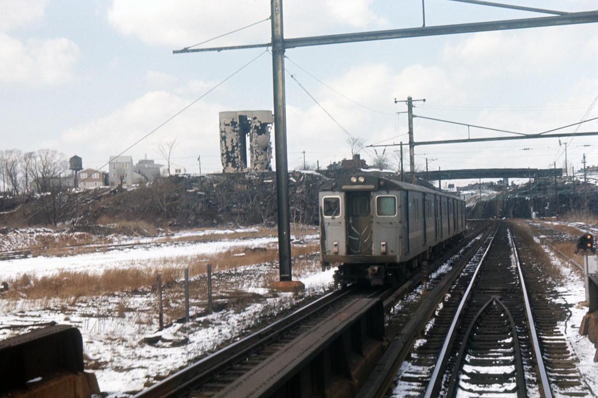 (381k, 1044x711)<br><b>Country:</b> United States<br><b>City:</b> Jersey City, NJ<br><b>System:</b> PATH<br><b>Location:</b> East of Journal Square <br><b>Car:</b> H&M/PATH K-class 12xx <br><b>Collection of:</b> David Pirmann<br><b>Date:</b> 3/21/1965<br><b>Viewed (this week/total):</b> 0 / 4256