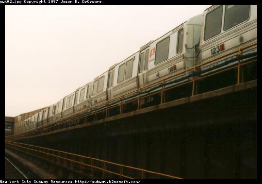 (30k, 540x379)<br><b>Country:</b> United States<br><b>City:</b> Newark, NJ<br><b>System:</b> PATH<br><b>Location:</b> Newark (Penn Station) <br><b>Car:</b> PATH PA-1 (St. Louis Car, 1965)  119 <br><b>Photo by:</b> Jason R. DeCesare<br><b>Date:</b> 11/1996<br><b>Viewed (this week/total):</b> 1 / 5153