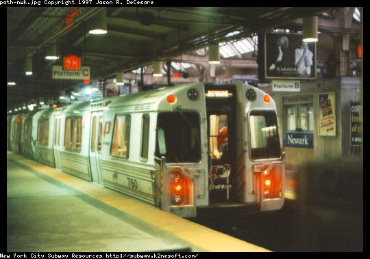 (41k, 540x379)<br><b>Country:</b> United States<br><b>City:</b> Newark, NJ<br><b>System:</b> PATH<br><b>Location:</b> Newark (Penn Station) <br><b>Car:</b> PATH PA-3 (Hawker-Siddley, 1972)  760 <br><b>Photo by:</b> Jason R. DeCesare<br><b>Viewed (this week/total):</b> 1 / 6034