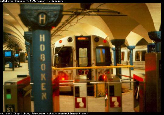 (47k, 540x379)<br><b>Country:</b> United States<br><b>City:</b> Hoboken, NJ<br><b>System:</b> PATH<br><b>Location:</b> Hoboken <br><b>Car:</b> PATH PA  <br><b>Photo by:</b> Jason R. DeCesare<br><b>Date:</b> 1996<br><b>Viewed (this week/total):</b> 0 / 5709