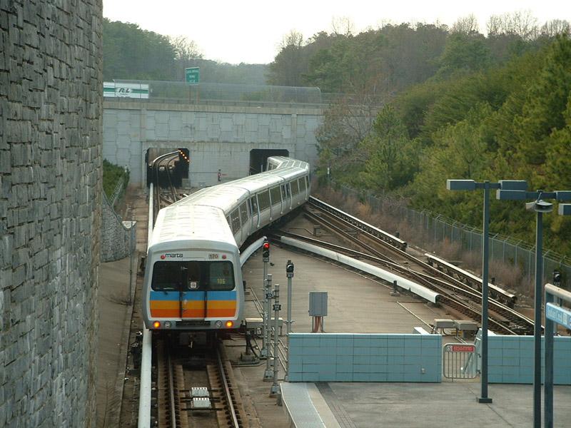 (175k, 800x600)<br><b>Country:</b> United States<br><b>City:</b> Atlanta, GA<br><b>System:</b> MARTA<br><b>Line:</b> East-West Line <br><b>Location:</b> Indian Creek <br><b>Car:</b> MARTA CQ310 170 <br><b>Photo by:</b> Robert Ferreira<br><b>Date:</b> 3/14/2002<br><b>Notes:</b> Westbound train departing Indian Creek<br><b>Viewed (this week/total):</b> 6 / 4719