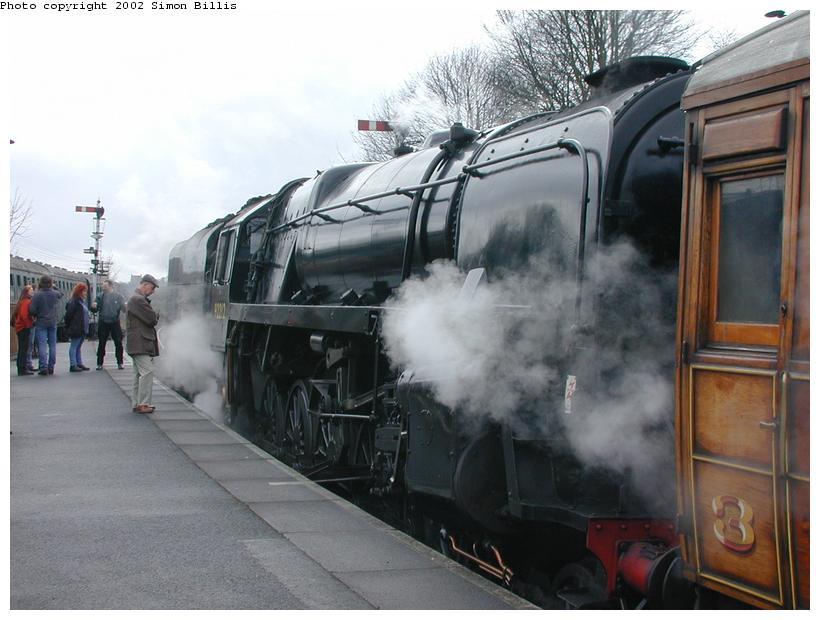 (77k, 820x620)<br><b>Country:</b> United Kingdom<br><b>System:</b> Severn Valley Railway <br><b>Photo by:</b> Simon Billis<br><b>Date:</b> 4/22/2001<br><b>Viewed (this week/total):</b> 0 / 1776