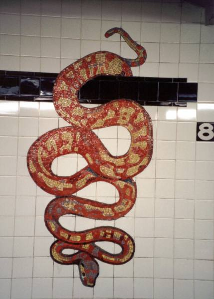 (33k, 429x600)<br><b>Country:</b> United States<br><b>City:</b> New York<br><b>System:</b> New York City Transit<br><b>Line:</b> IND 8th Avenue Line<br><b>Location:</b> 81st Street/Museum of Natural History <br><b>Photo by:</b> David of Broadway<br><b>Date:</b> 1/6/2002<br><b>Artwork:</b> <i>For Want of a Nail</i>,  MTA Arts for Transit (1999).<br><b>Viewed (this week/total):</b> 3 / 9316
