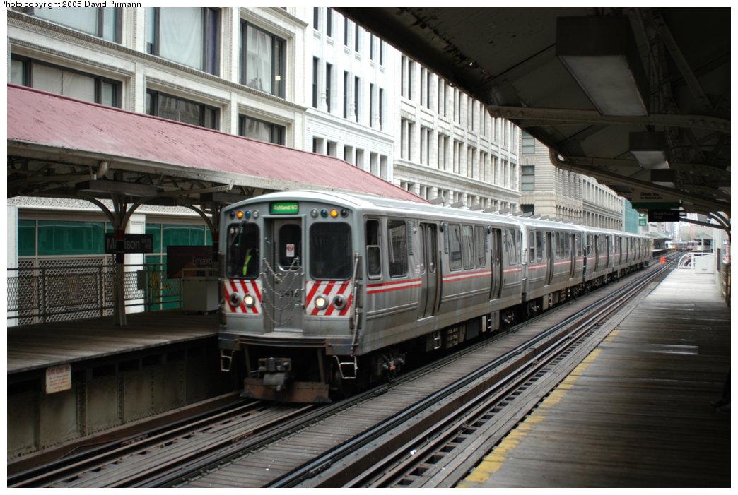 (209k, 1044x701)<br><b>Country:</b> United States<br><b>City:</b> Chicago, IL<br><b>System:</b> Chicago Transit Authority<br><b>Line:</b> CTA Loop<br><b>Location:</b> Madison/Wabash<br><b>Car:</b> CTA 2400 Series 2418 <br><b>Photo by:</b> David Pirmann<br><b>Date:</b> 5/3/2005<br><b>Viewed (this week/total):</b> 0 / 1364