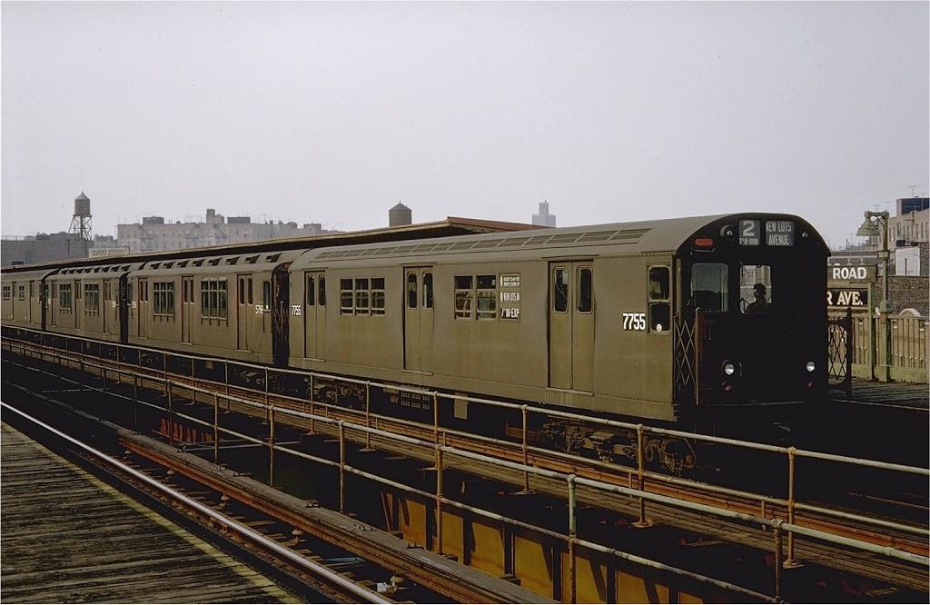 (184k, 1024x666)<br><b>Country:</b> United States<br><b>City:</b> New York<br><b>System:</b> New York City Transit<br><b>Line:</b> IRT Brooklyn Line<br><b>Location:</b> Sutter Avenue/Rutland Road <br><b>Route:</b> 2<br><b>Car:</b> R-26 (American Car & Foundry, 1959-60) 7755 <br><b>Photo by:</b> Doug Grotjahn<br><b>Collection of:</b> Joe Testagrose<br><b>Date:</b> 8/15/1967<br><b>Viewed (this week/total):</b> 3 / 6612