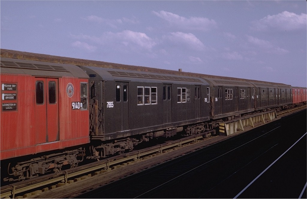 (150k, 1024x664)<br><b>Country:</b> United States<br><b>City:</b> New York<br><b>System:</b> New York City Transit<br><b>Line:</b> IRT Pelham Line<br><b>Location:</b> Castle Hill Avenue <br><b>Route:</b> 6<br><b>Car:</b> R-28 (American Car & Foundry, 1960-61) 7865 <br><b>Photo by:</b> Joe Testagrose<br><b>Date:</b> 11/8/1969<br><b>Viewed (this week/total):</b> 0 / 2558