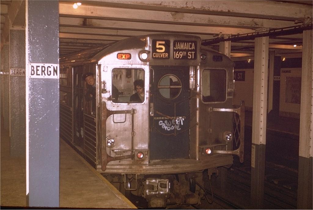 (183k, 1024x688)<br><b>Country:</b> United States<br><b>City:</b> New York<br><b>System:</b> New York City Transit<br><b>Line:</b> IND Crosstown Line<br><b>Location:</b> Bergen Street-Lower Level<br><b>Route:</b> Fan Trip<br><b>Car:</b> R-11 (Budd, 1949) 8012 <br><b>Photo by:</b> Steve Zabel<br><b>Collection of:</b> Joe Testagrose<br><b>Date:</b> 10/21/1972<br><b>Viewed (this week/total):</b> 2 / 11214