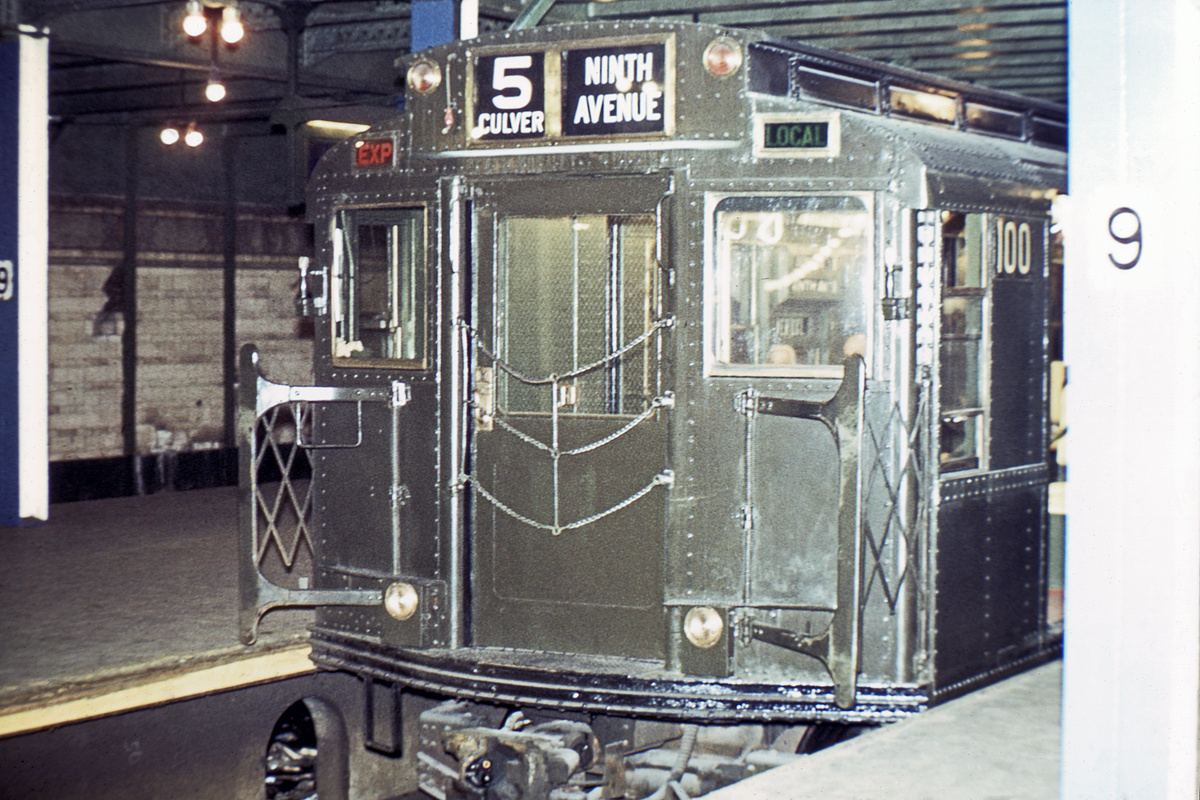 (413k, 1044x712)<br><b>Country:</b> United States<br><b>City:</b> New York<br><b>System:</b> New York City Transit<br><b>Line:</b> BMT Culver Line<br><b>Location:</b> 9th Avenue (Lower Level) <br><b>Route:</b> Culver Shuttle<br><b>Car:</b> R-1 (American Car & Foundry, 1930-1931) 100 <br><b>Photo by:</b> Joe Testagrose<br><b>Collection of:</b> David Pirmann<br><b>Viewed (this week/total):</b> 1 / 4988